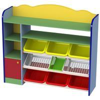 Cтеллаж детский М-538 (разноцветный, 1333х355х1185 мм)