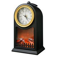 Фигурка светодиодная Neon-Night Камин Старинные часы (14.7x11.7x25 см, черный)