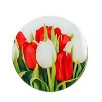 Доска разделочная Доляна Тюльпаны 20х20 см