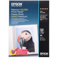 Фотобумага для цветной струйной печати Epson Premium Glossy односторонняя (глянцевая, А4, 255 г/кв.м, 50 листов, артикул производителя C13S041624)