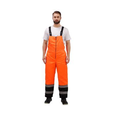 Костюм рабочий зимний мужской зд01-КПК с СОП оранжевый/черный (размер 48-50, рост 158-164)