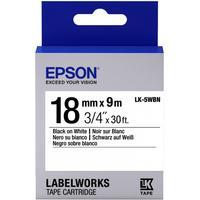 Картридж для принтера этикеток Epson LK5WBN (18 мм x 9 м, цвет ленты белый, шрифт черный)