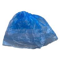 Бахилы одноразовые полиэтиленовые гладкие СЗПИ 5 г синие/белые (50 пар в  упаковке)