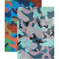 Папка уголок №1 School Милитари А4 пластиковая 180 мкм цвет в  ассортименте (2 штуки в упаковке)