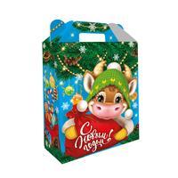 Новогодний сладкий подарок Милашка в картонной коробке 1000 г (с пазлом)
