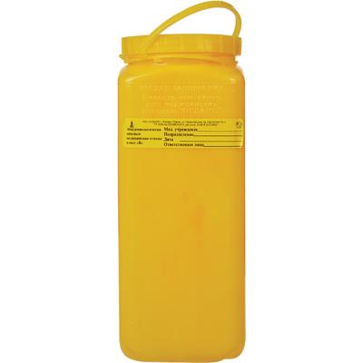 Упаковка для сбора медицинских отходов Олданс класс Б желтая 2.5 л