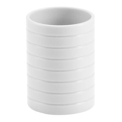 Стакан для ванной Trento белый пластик