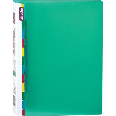 Скоросшиватель пластиковый с пружинным механизмом Attache Diagonal А4 до 150 листов зеленый (толщина обложки 0.6 мм)