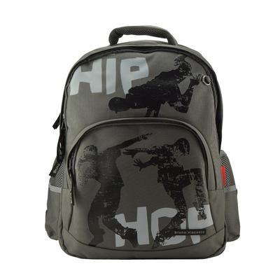 Рюкзак школьный Bruno Visconti Хип-хоп темно-серый