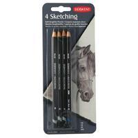 Набор карандашей чернографитных Derwent Sketching 4 штуки в блистере