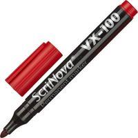 Маркер перманентный ScriNova VX-100 красный (толщина линии 1-3 мм) круглый наконечник