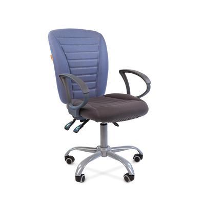 Кресло офисное Chairman 9801 голубое/серое (ткань, металл)