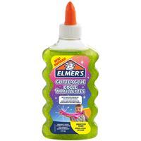Клей для слаймов Elmer's Glitter Glue прозрачный зеленый с блестками 177 мл