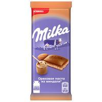 Шоколад Milka молочный с ореховой пастой из миндаля 85 г