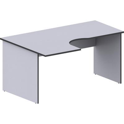 Стол эргономичный Агат левый серый (1600x1100x750 мм)