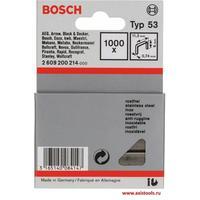 Скобы Bosch для степлеров (1000 штук, 6 мм, тип 53, артикул производителя 2609200214)