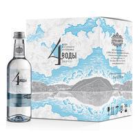 Вода питьевая 4 Воды негазированная 0.375 л (6 штук в упаковке)