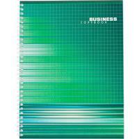 Бизнес-тетрадь Тетрапром Колористика A4 96 листов разноцветная в клетку на спирали (202x270 мм)