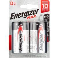 Батарейки Energizer Max D E95 (2 штуки в упаковке)