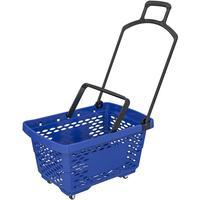 Корзина покупательская Evr Disco (синяя, пластик)