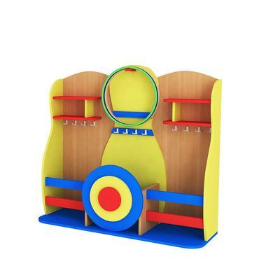 Стеллаж детский Кегля для спортивного инвентаря (разноцветный)