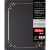 Папка для сертификатов Decadry синяя (A4, 300 г/кв.м, 5 штук в упаковке)