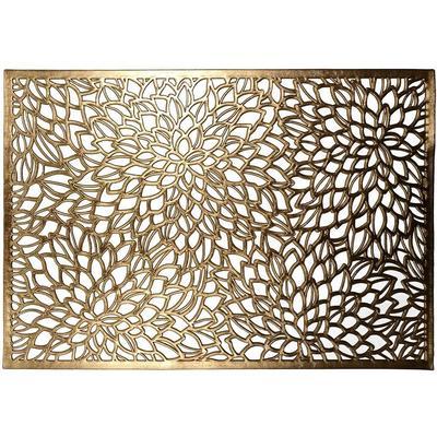 Салфетка ПВХ Niklen Золотистая 30x45 см 4 штуки в упаковке