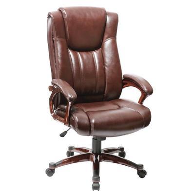 Уценка. Кресло для руководителя Easy Chair 632 TR коричневое  (рециклированная кожа, пластик). уц_меб