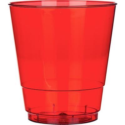 Стакан одноразовый Комус Стандарт пластиковый красный 200 мл 50 штук в упаковке