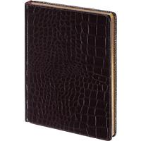 Ежедневник недатированный Альт Caiman искусственная кожа А5 136 листов коричневый (золотистый обрез, 145х205 мм) (артикул производителя 3-494)