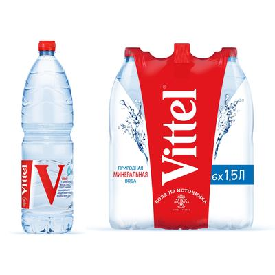 Вода минеральная Vittel негазированная 1.5 л (6 штук в упаковке)