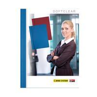 Обложки для переплета картонные/пластиковые Opus C-bind Softclear 140 мкм синие (корешок 10 мм, 10 штук в упаковке)
