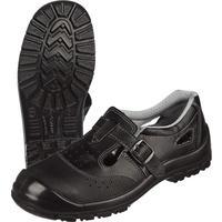 Полуботинки с перфорацией (сандалии) Стандарт-П натуральная кожа черные с металлическим подноском размер 44