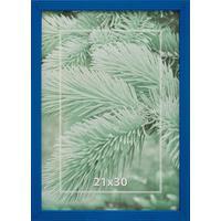 Рамка А4 21х30 см деревянный багет 16 мм синяя