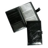 Визитница настольная Grand натуральная кожа на 72 визитки черная (115x185 мм)