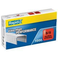 Скобы для степлера N9/8 Rapid Super Strong оцинкованные (1000 штук в упаковке)