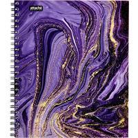 Бизнес-тетрадь Attache Selection Fluid А5 96 листов фиолетовая в клетку на спирали (170х203 мм)