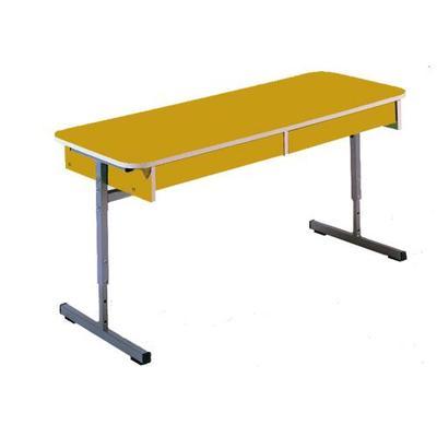 Стол детский с выдвижным ящиком (рост 1-3, желтый)