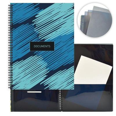 Папка файловая Феникс+ 8 файлов 10/0,3 A4+ синяя