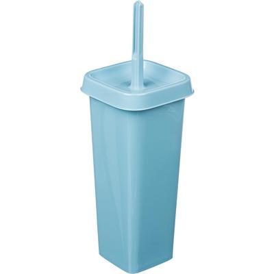 Ершик для унитаза Svip Квадра напольный с подставкой из пластика квадратный голубой