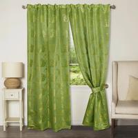 Комплект штор 150х265 см зеленый