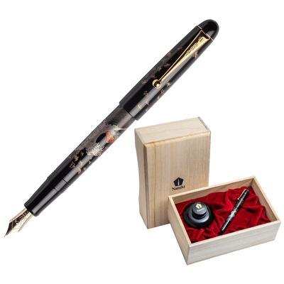 Ручка перьевая Namiki Tradition Mount Fuji and wave цвет чернил черный цвет корпуса черный