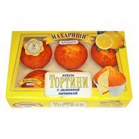 Кексы Махариши Тортини с лимонной начинкой 200 г