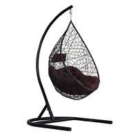 Кресло подвесное Лия черное (искусственный ротанг/сталь)
