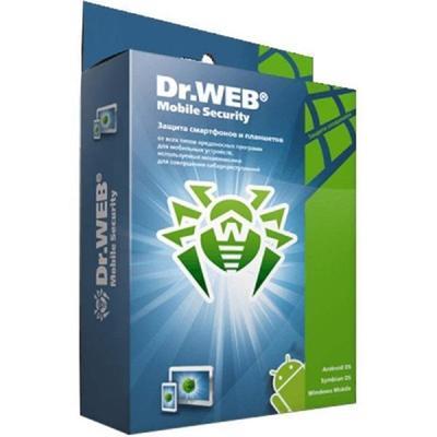 Антивирус Dr.Web Mobile Security база для 2 ПК на 12 месяцев (электронная лицензия, LHM-BK-12M-2-A3)