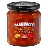 Фасоль Лукашинские печеная по-домашнему в томатном соусе 450 г