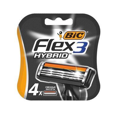 Сменные кассеты для бритья Bic Flex 3 Hybrid (4 штуки в упаковке)