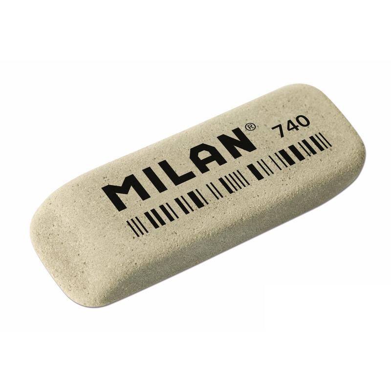"""Анонс-изображение товара ластик milan """"740"""", скошенный, натуральный каучук, 52*19*7мм, 973185"""