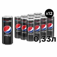 Напиток Pepsi Max газированный 0.33 л (12 штук в упаковке)