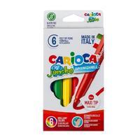 Фломастеры Carioca Jumbo 6 цветов